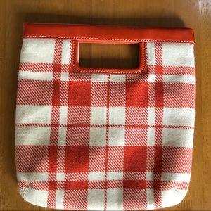 Like New Banana Republic Plaid Wool Clutch Handbag